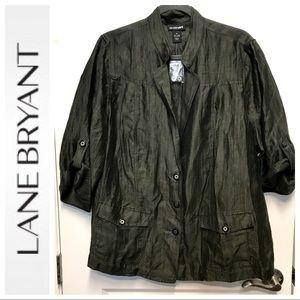 🔥NWT🔥 Lane Bryant Olive 3/4 Sleeve Blazer